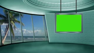 News TV Studio Set 09 - Virtual Green Screen Background Loop