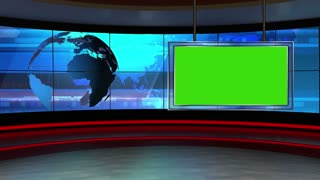 News TV Studio Set 10 - Virtual Green Screen Background Loop