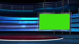 News TV Studio Set 11 - Virtual Green Screen Background Loop