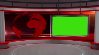 News TV Studio Set 12 - Virtual Green Screen Background Loop