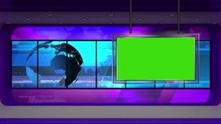 News TV Studio Set 13 - Virtual Green Screen Background Loop