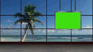 News TV Studio Set 15 - Virtual Green Screen Background Loop