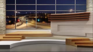 News TV Studio Set 19 - Virtual Green Screen Background Loop