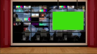News TV Studio Set 20 - Virtual Green Screen Background Loop