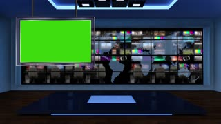 News TV Studio Set 21-Virtual Green Screen Background Loop