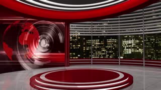News TV Studio Set 22-Virtual Green Screen Background Loop