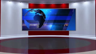 News TV Studio Set 25-Virtual Green Screen Background Loop