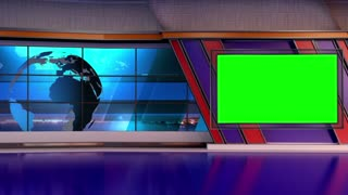News TV Studio Set 26-Virtual Green Screen Background Loop