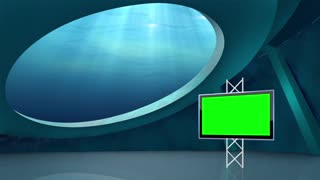 News TV Studio Set 27 - Virtual Green Screen Background Loop