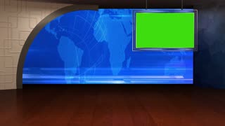 News TV Studio Set 29 - Virtual Green Screen Background Loop