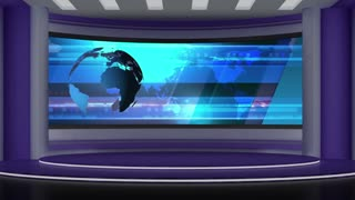 News TV Studio Set 30 - Virtual Green Screen Background Loop