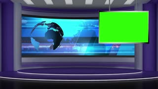 News TV Studio Set 31 - Virtual Green Screen Background Loop