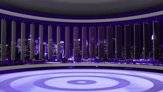 News TV Studio Set 32 - Virtual Green Screen Background Loop