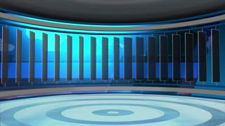 News TV Studio Set 33 - Virtual Green Screen Background Loop