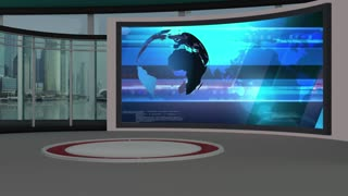 News TV Studio Set 34 - Virtual Green Screen Background Loop