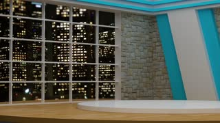 News TV Studio Set 36 - Virtual Green Screen Background Loop