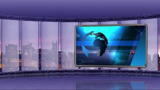 News TV Studio Set 40-Virtual Green Screen Background Loop
