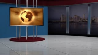 News TV Studio Set 41 - Virtual Green Screen Background Loop