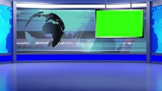 News TV Studio Set 42 - Virtual Green Screen Background Loop