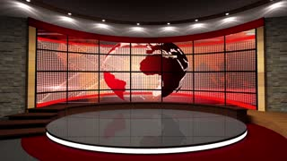 News TV Studio Set 43 - Virtual Green Screen Background Loop