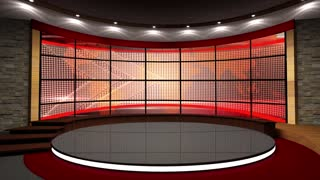 News TV Studio Set 44 - Virtual Green Screen Background Loop