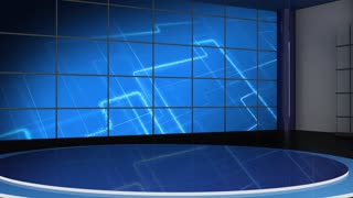 News TV Studio Set 45 - Virtual Green Screen Background Loop