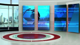 News TV Studio Set 46 - Virtual Green Screen Background Loop