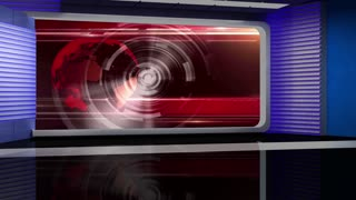 News TV Studio Set 48- Virtual Green Screen Background Loop
