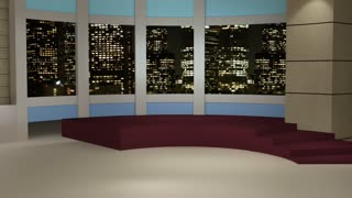 News TV Studio Set 49 - Virtual Green Screen Background Loop