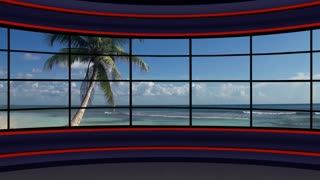 News TV Studio Set 50-Virtual Green Screen Background Loop
