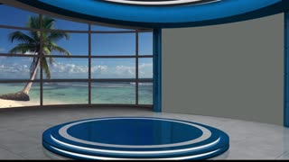 News TV Studio Set 51 - Virtual Green Screen Background Loop