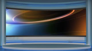 News TV Studio Set 54 - Virtual Green Screen Background Loop
