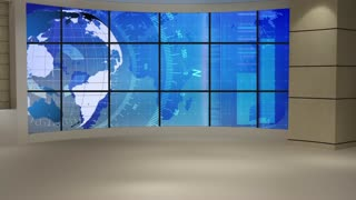 News TV Studio Set 60- Virtual Green Screen Background Loop