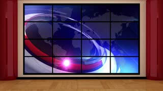 News TV Studio Set 62 - Virtual Green Screen Background Loop