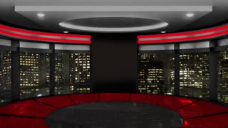 News TV Studio Set 63-Virtual Green Screen Background Loop