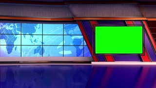 News TV Studio Set 66-Virtual Green Screen Background Loop