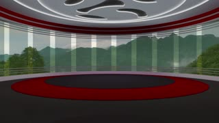 News TV Studio Set 70 - Virtual Green Screen Background Loop