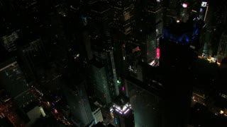Night Aerial View of Times Square