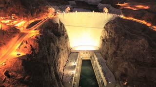 Night Hoover Dam Timelapse