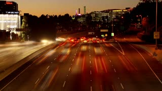 Night LA Highway Time Lapse