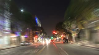 Night LA Street Timelapse