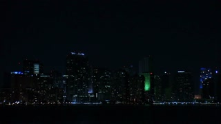 Night Shot of Miami Coastline