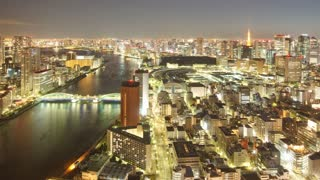 Night Time Lapse Tokyo Japan Ctyscape