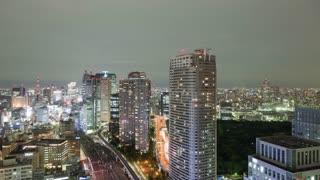 Night Time Lapse Tokyo Japan