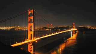 Night Timelapse Golden Gate Bridge