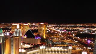 Night to Day Vegas Zoom Out Timelapse