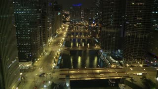 Night Traffic Chicago Timelapse