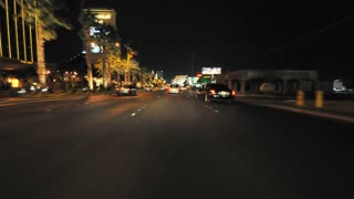 Night Vegas Road Timelapse