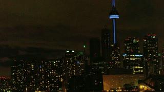Nighttime Cityscape In Canada