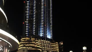 Nighttime Downtown Dubai Building